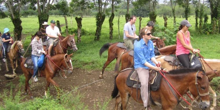 Horseback to the Waterfall of La Fortuna